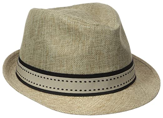 Henschel Men s Low Crown Fedora with Fancy Stitch Band and Loop at ... 5dc64331892