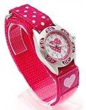 Ravel Kinder-Armbanduhr Ravel Girls Polka Dot Velcro Watch Analog Kunststoff mehrfarbig R1507.24
