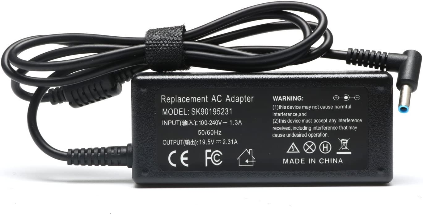 Novelty 19.5V 2.31A 45W AC Adapter Charger for HP Stream 11 13 14; Split 13 X2; Elitebook Folio 1040 G1; Pavilion X2 11 13 15, Compatible 719309-003 721092-001 741727-001 740015-001 SK90195231