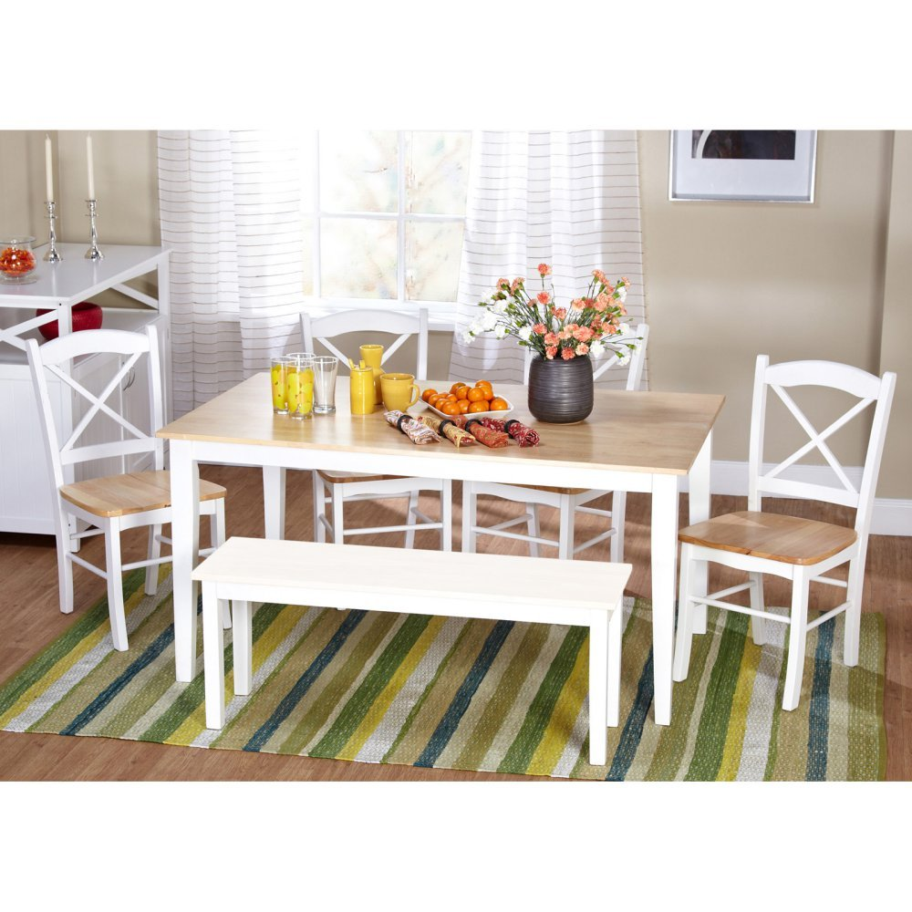 Amazon.com - Tiffany 6 Piece Dining Set - Table & Chair Sets
