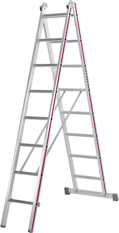 2 x 12 peldaños Hymer multiusos escalera, ganchos 4045: Amazon.es: Bricolaje y herramientas