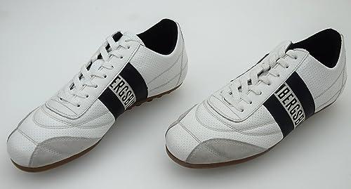 BIKKEMBERGS Zapatillas Deportivas para Hombre Art. BKE105391 38 Bianco Banda NERA: Amazon.es: Zapatos y complementos