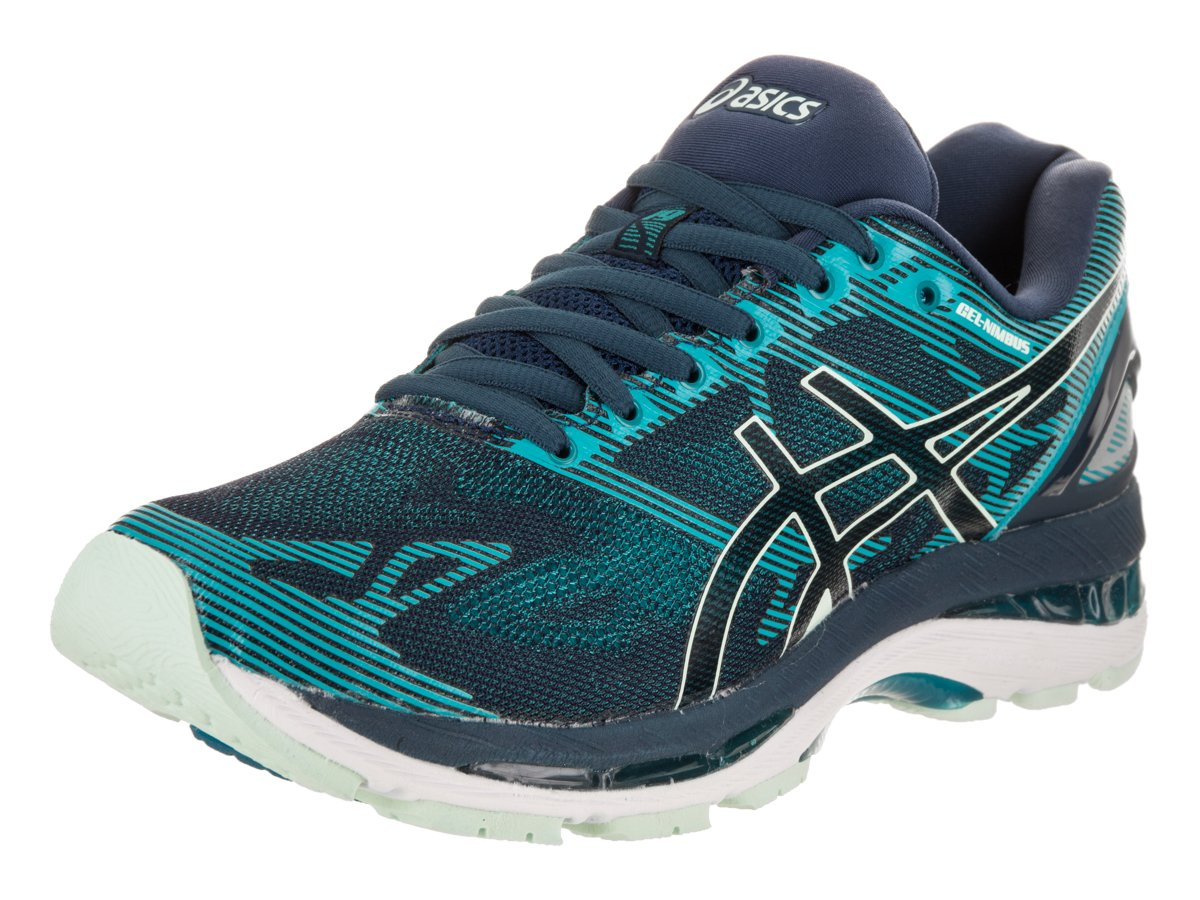 ASICS Women's Gel-Nimbus 19 Running-Shoes, Insignia Blue/Glacier Sea/Crystal Blue, 8.5 Medium US
