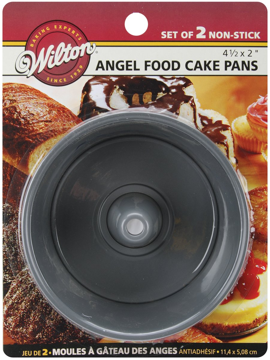 Wilton 4.5x2 Mini Angel Food Cake Pans 2/Pkg