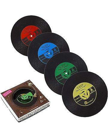 6 x PBELE CD Record de café de vinilo Retro bebidas alfombrilla de vajilla Chic posavasos