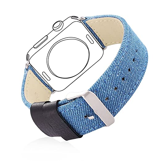 26 opinioni per Bandmax Casual Comfortable Denim Fabric Watch Band with Stainless Steel Clasp