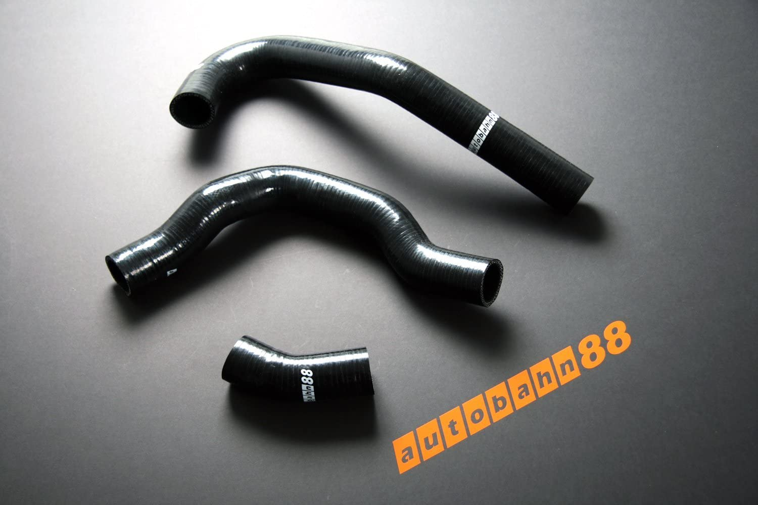 Black -without Clamp Set Autobahn88 Heater Silicone Hose Kit fits for 1989-1993 Nissan Skyline GTS R32 HCR32 HNR32 RB20DET