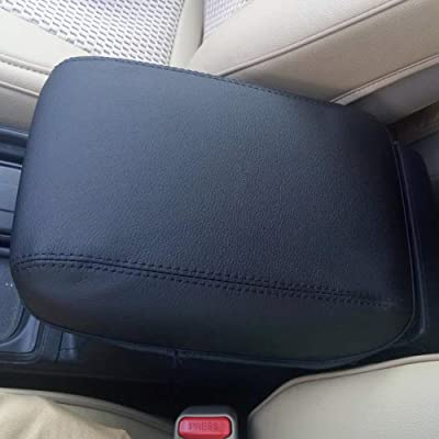 BEHAVE Car Armrest Cover Saver, 1 Piece Armrest Cover Fit for Honda CRV 2013 2014 2015 2016 Central Console Armrest Box CRV(Black with Black Stitches): Automotive [5Bkhe1003616]