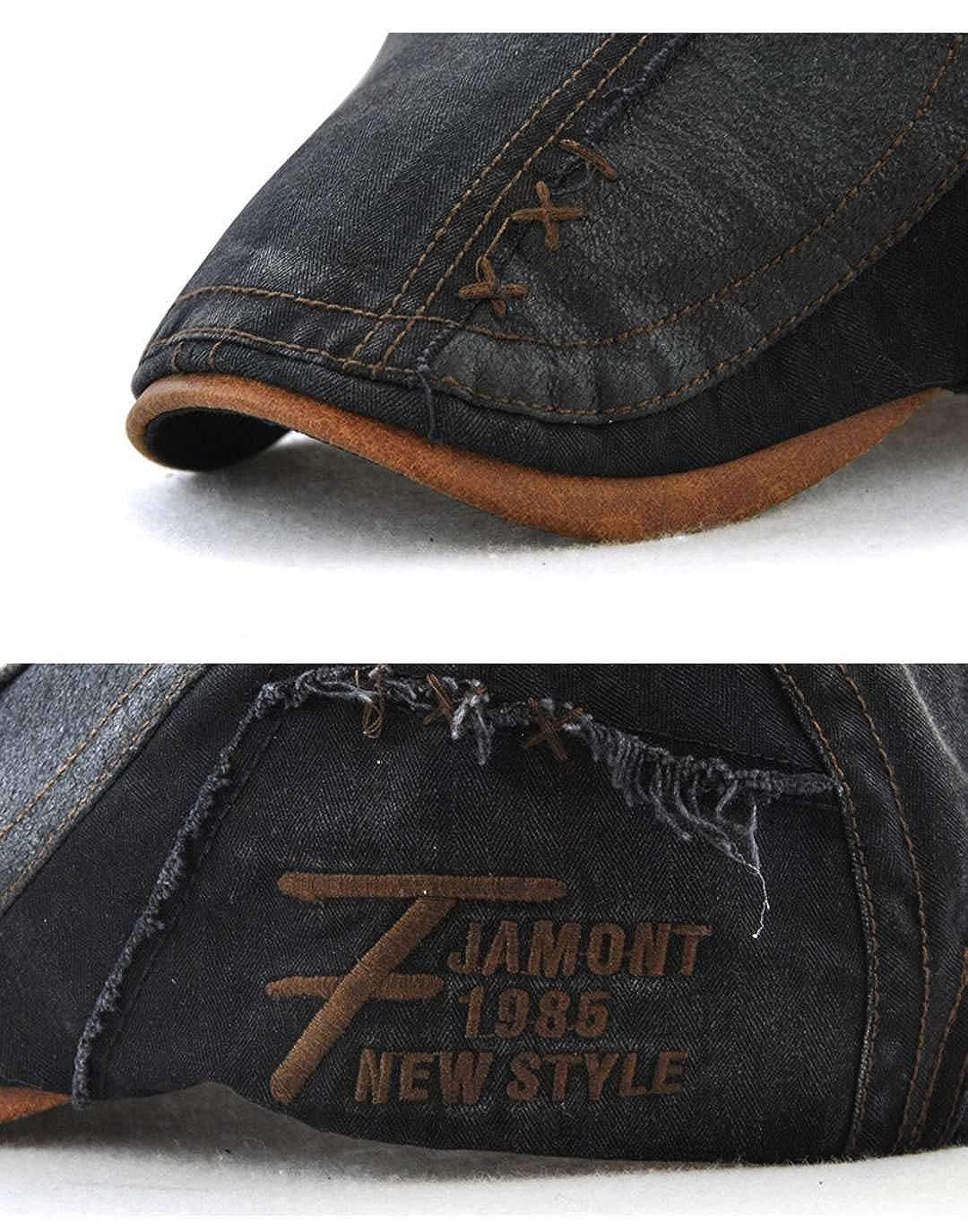 CHENNUO Vintage en D/étresse Coton B/éret Homme Casquette Souple Newsboy Ivy Casquette Plate