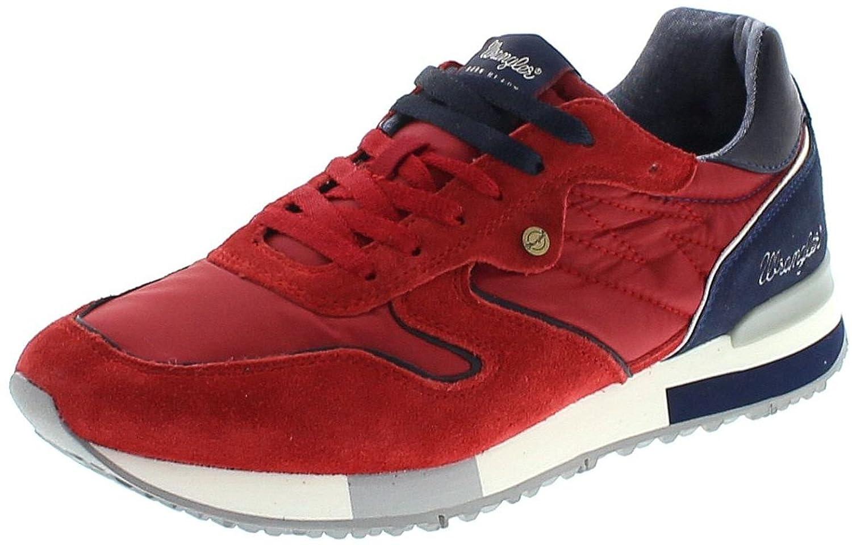 FB Fashion Boots - Tobillo bajo de Piel Hombre 44 EU|Rojo