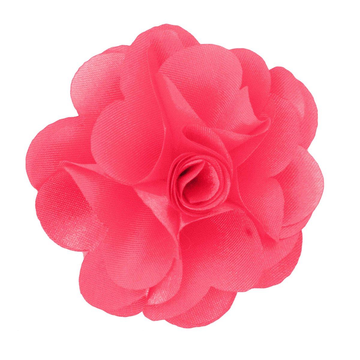 Mens Lapel Flower . Bubblegum Pink