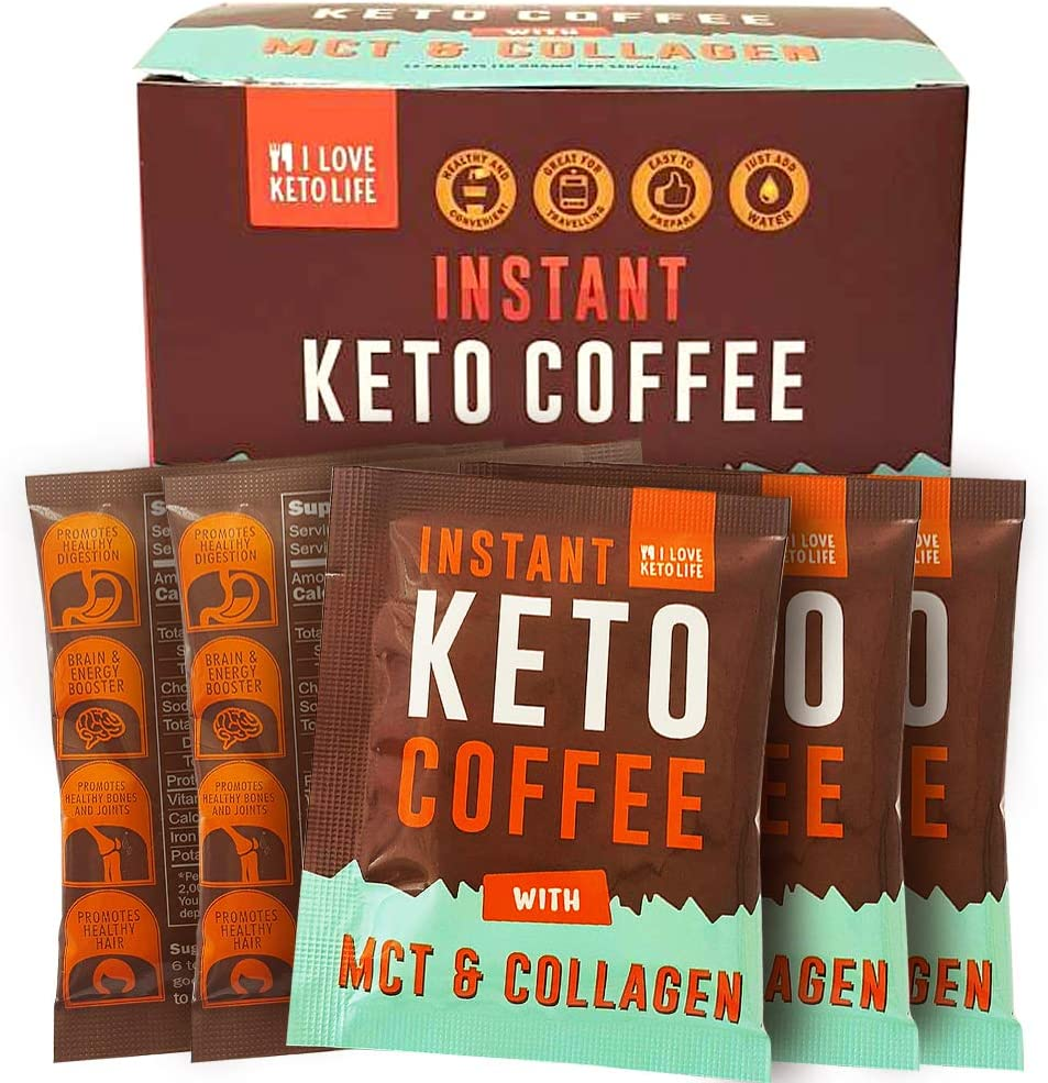 iLoveKetoLife Ketogenic Instant Coffee Cappuccino - Refreshing ...