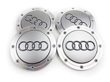 Forten Car - Juego de 4 tapones de tapacubos con logo de Audi para llantas de aleación, OEM4B0601165A, 148 mm: Amazon.es: Coche y moto