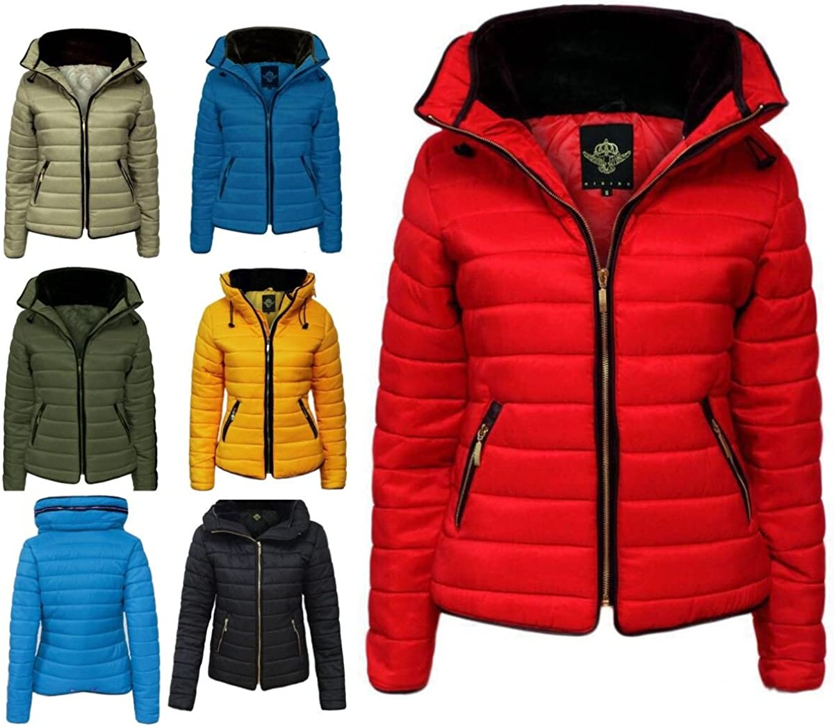 21FASHION New Women Ladies Zara Padded Quilted Puffer Bubble