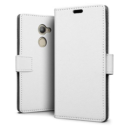 SLEO Funda para Vodafone Smart N8 Carcasa Libro de Cuero Ultra Delgado Billetera Cartera [Ranuras de Tarjeta,Soporte Plegable,Cierre Magnético] Case ...