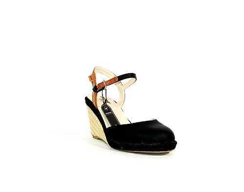 Mustang - Alpargata cuña negra chica - talla - 41: Amazon.es: Zapatos y complementos