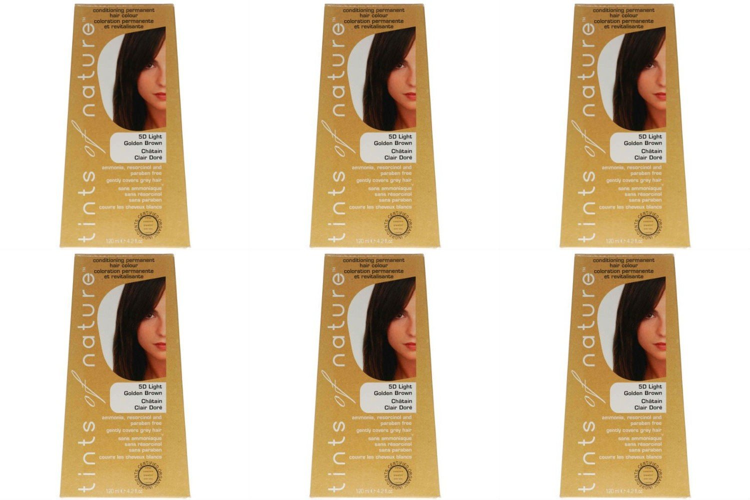 (6 PACK) - Tints of Nature - Light Golden Brown | 120ml | 6 PACK BUNDLE