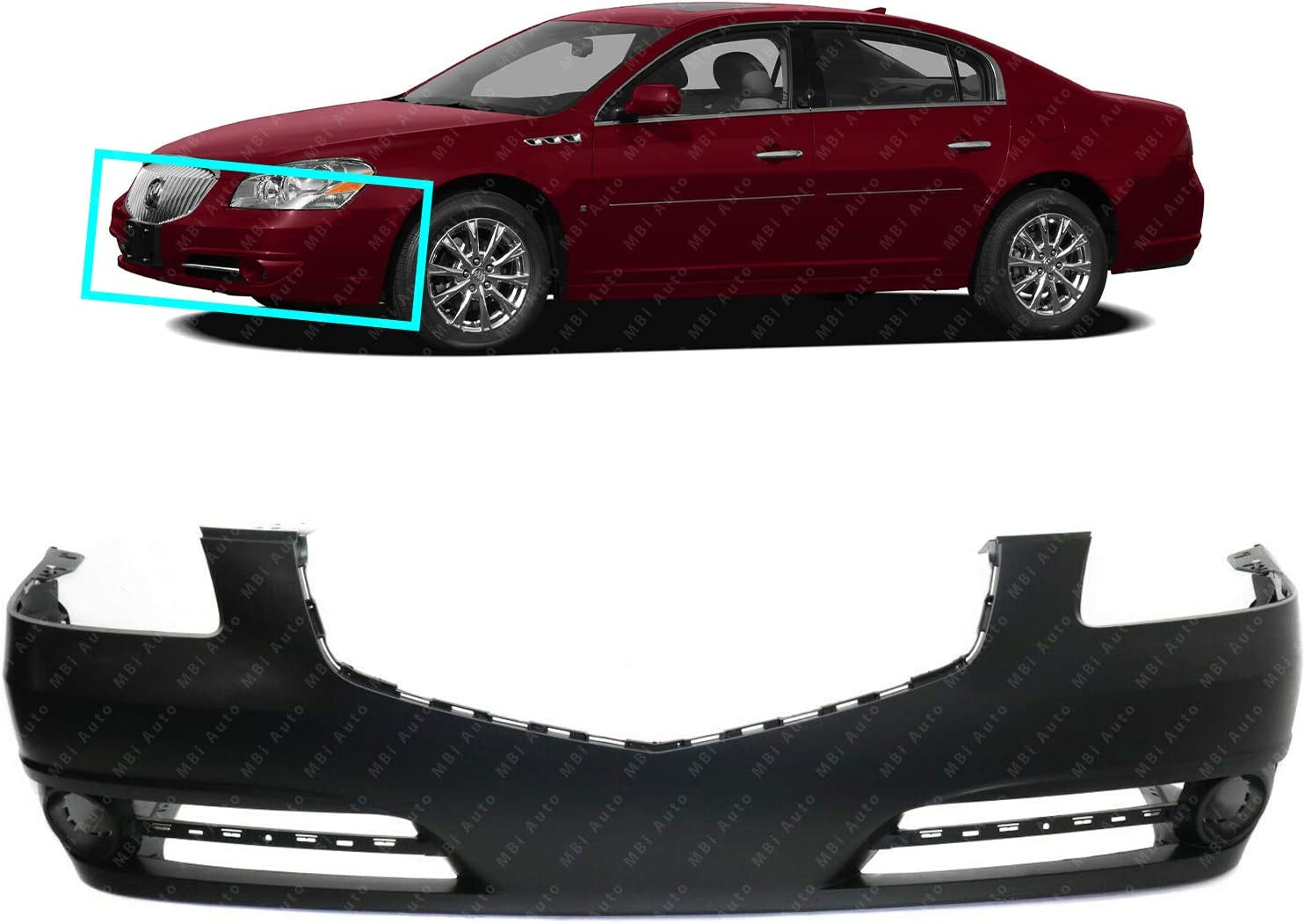 Front Bumper Cover Fascia for 2008-2011 Buick Lucerne Super CX CXL w//Fog 08-11 BUMPERS THAT DELIVER Primered GM1000861