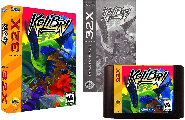 Kolibri (Sega Genesis 32X)- Reproduction Cartridge with Clamshell Case, Manual
