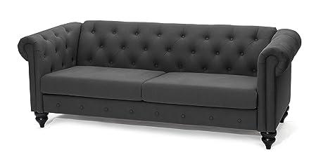 SLAAP Sofa & Chaise - Sofá clásico Chester 2,5 plazas. Gris ...
