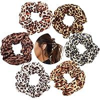 Stof Haar Scrunchies Hair Scrunchies Ponytail Holder Leopard Hair Band Scrunchy Hair Ties Animal Print Hair Band…