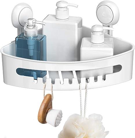 1PC Shaver Suction Cup Clear Hanger Hanging Rack Bathroom Storage Shelf #k