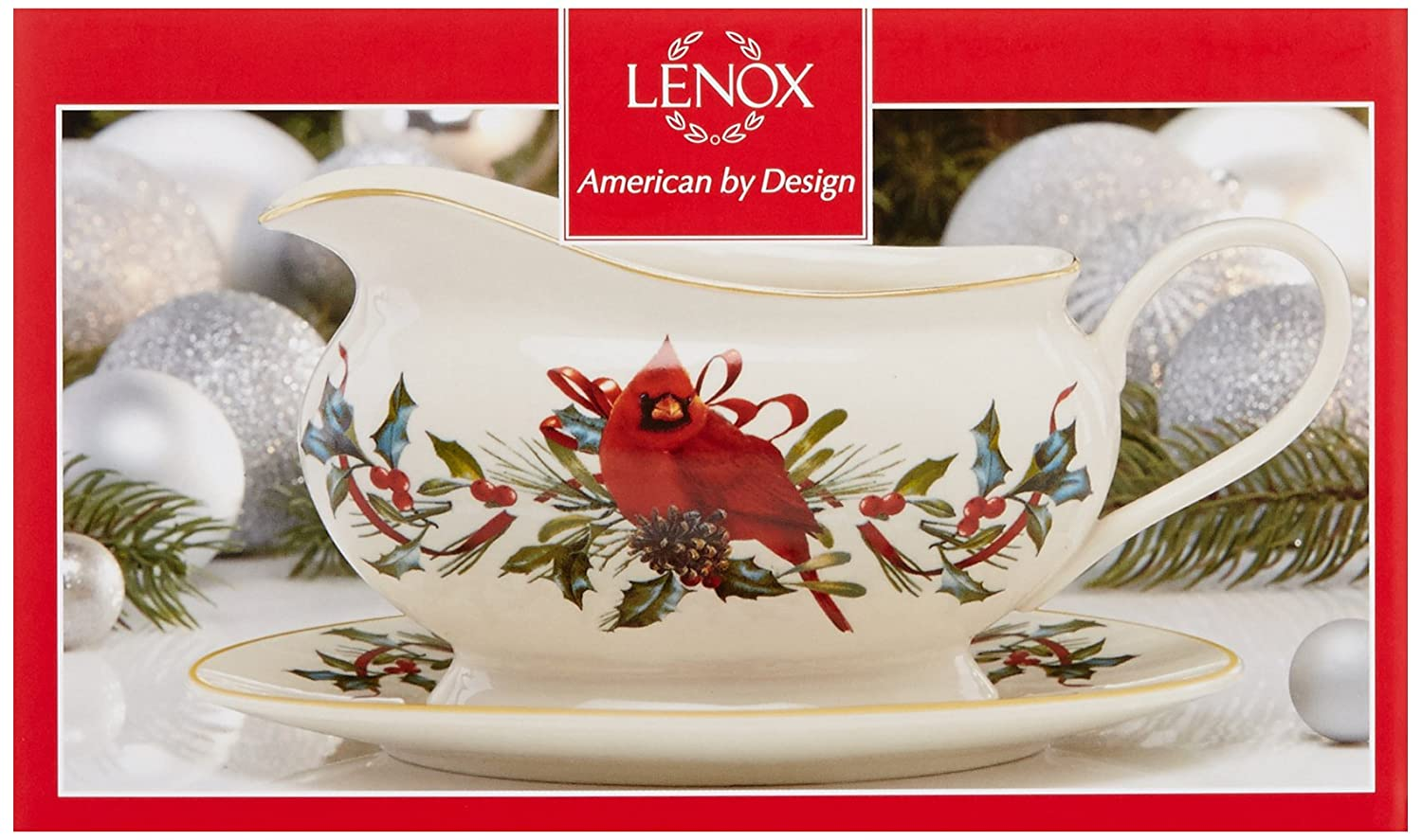 Amazon lenox winter greetings gravy boat with standivory amazon lenox winter greetings gravy boat with standivory kitchen dining kristyandbryce Choice Image