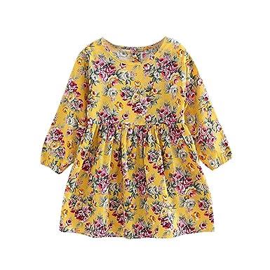3b7d4b1bb9ae5 Mounter Fille 3 à 11 Ans Vetement Robe Princesse Mode Été Robe Soirée Fille  Chic Ete
