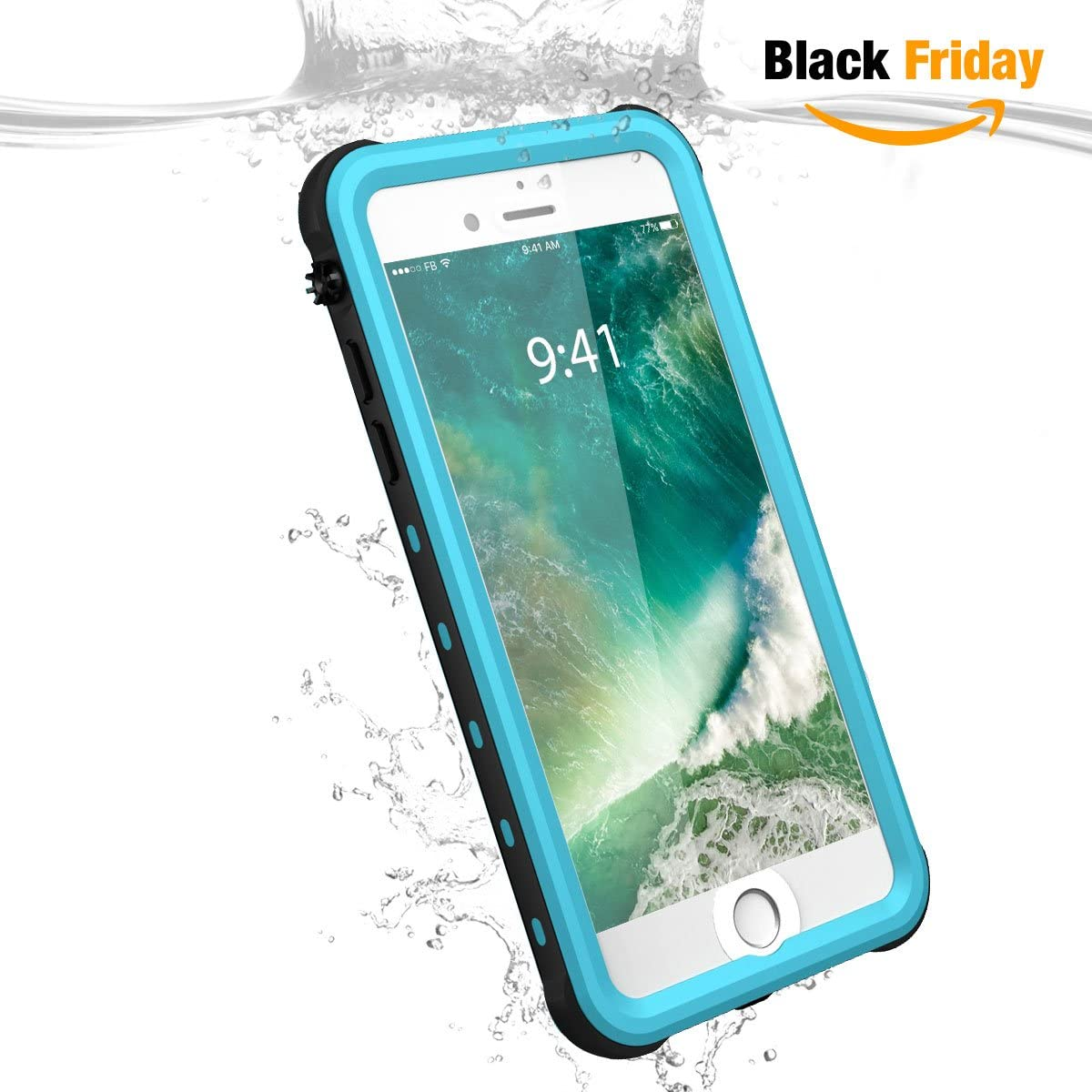 Vcloo - Funda Impermeable para iPhone 7 Plus (Impermeable, a ...