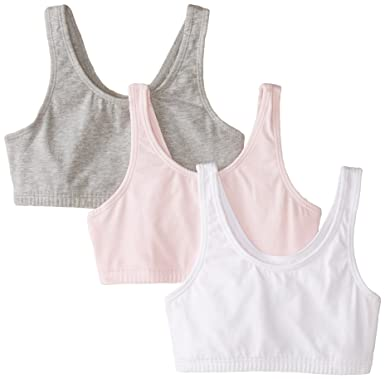 17f1e73575 Fruit of the Loom Big Girls  Cotton Built-Up Sport Bra  Amazon.in ...