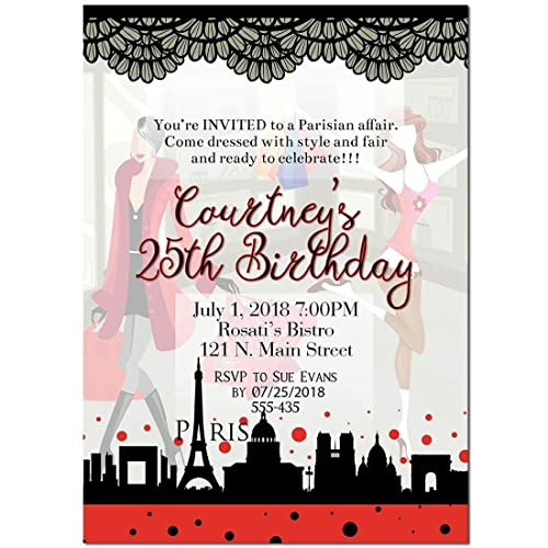 Image Unavailable Not Available For Color Paris Shopping Mall Birthday Party Invitations