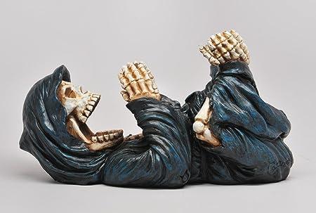 Grim Reaper Guzzler Wine Bottle Holder Figurine Kitchen Spooky Halloween Decor 11 L