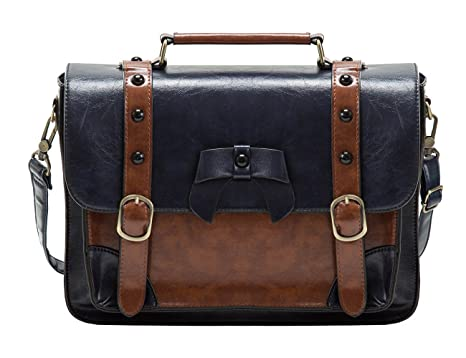 Amazon.com | ECOSUSI Vintage Crossbody Messenger Bag Briefcase ...