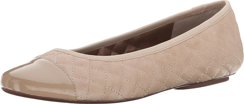 Amazon.com | Vaneli Women's Sabrena Taupe Dixan Calf/Match Ferns Patent  Flat 7.5 W (C) | Flats