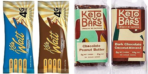 Fat Bombs Keto Bars – Mantequilla de almendra de chocolate + ...