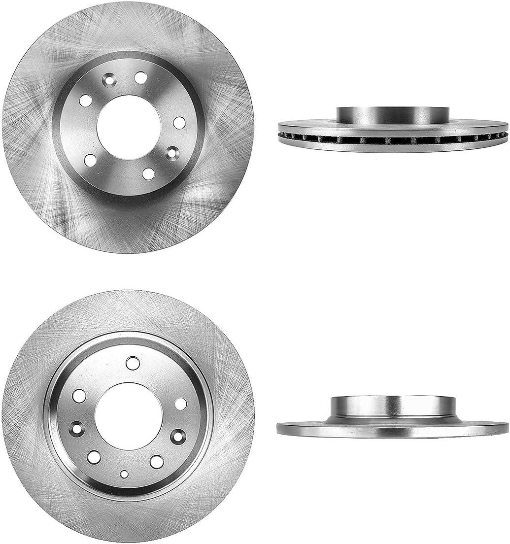 CRK13623 FRONT 299 mm 4 Brake Disc Rotors REAR 280 mm Premium OE 5 Lug
