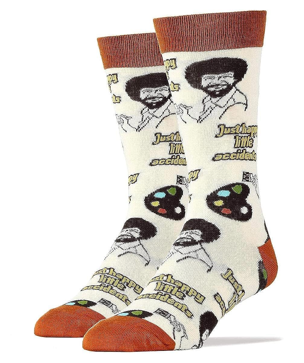 Bob Ross Happy Little Accidents taille unique chaussettes pour hommes les plus beiges