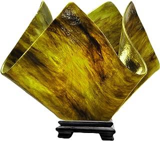 product image for Jezebel Signature Large Flame Treebark Glass Vase Lamp