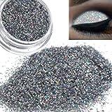 Eye Shadow,DMZing Sparkly Makeup Glitter Loose Powder EyeShadow Silver Eye Shadow Pigment
