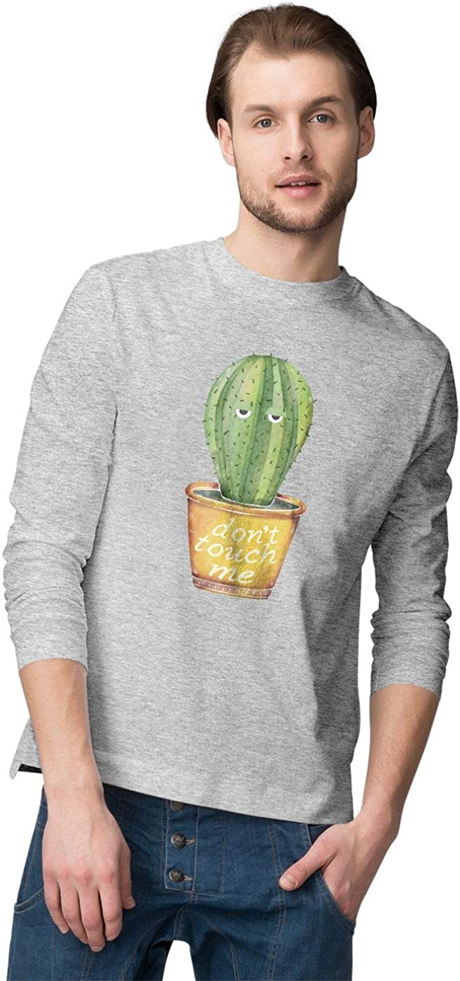 BLAK TEE Hombre Dont Touch Me Introvert Cactus Camisa De Manga Larga: Amazon.es: Ropa y accesorios