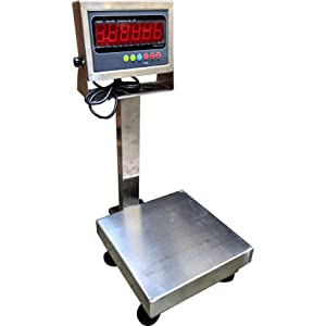 PEC Washdown Bench Scale Stainless Steel Food Scale Capacity 10x0.001lb 12