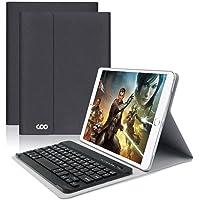 COO iPad Hülle Tastatur QWERTZ für 9,7 Zoll iPad 2018/2017, iPad Pro 9.7, iPad Air 2/1, iPad Bluetooth Keyboard Case mit Mulit-Angle- Ständer-Funktion Und mit Auto Schlaf/Wachen(Schwarz grau)