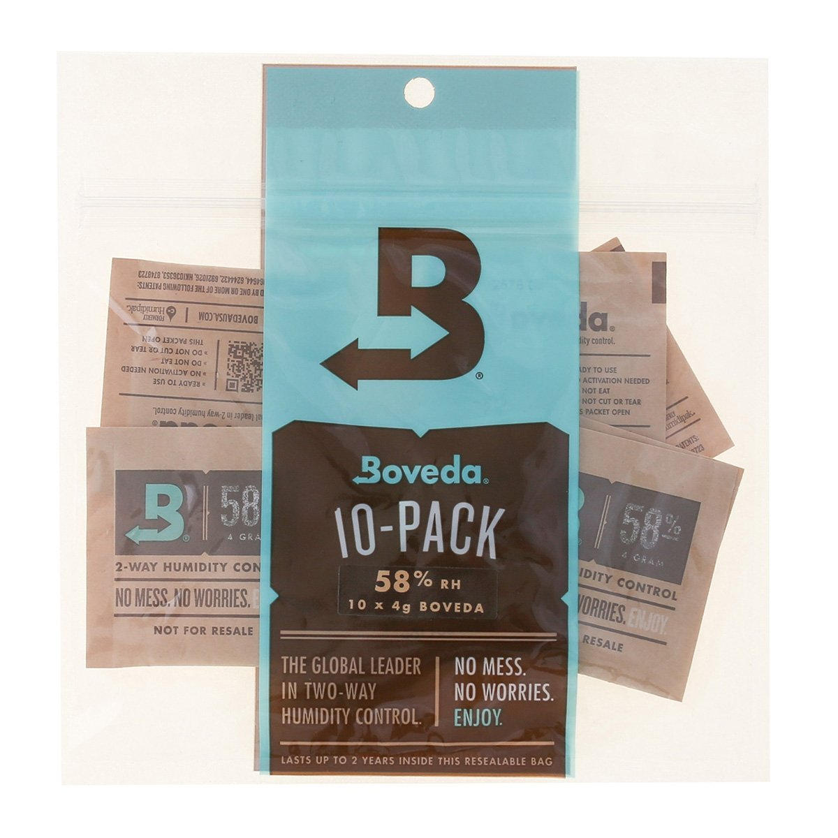 Boveda 58 Percent RH 2-Way Humidity Control, 4 Gram - 10 Pack by Boveda
