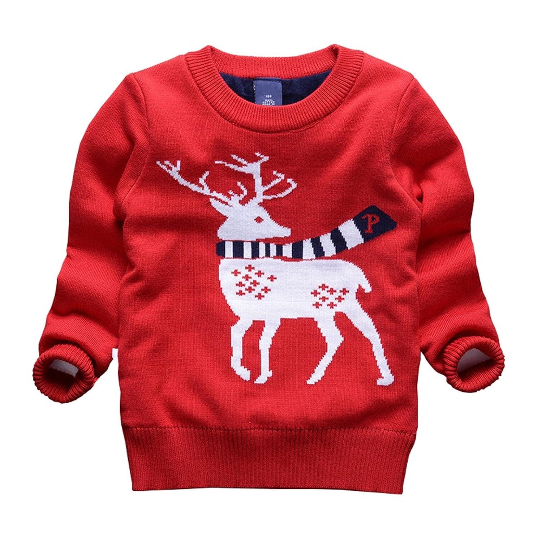 Taiycyxgan Toddler Boys Girls Deer Ugly Christmas Sweater Kids ...