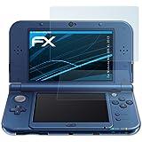 atFoliX Displayschutzfolie Nintendo New 3DS XL (2015) Schutzfolie - 3er Set - FX-Clear kristallklar