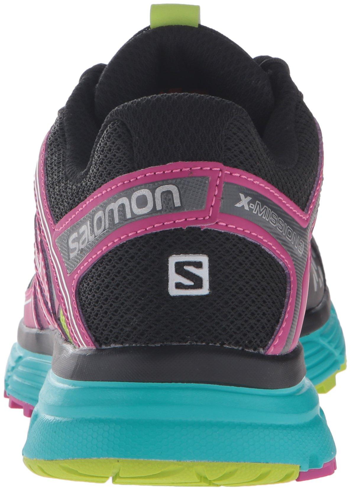 Salomon Women's X-Mission 3 CS W Trail Runner, Black/Teal Blue F/Deep Dahlia, 11 D US by Salomon (Image #2)