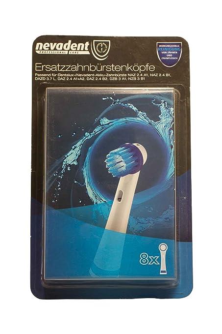 Cabezales de recambio para cepillo de dientes, de Nevadent, 273038 NAZK 8 B1