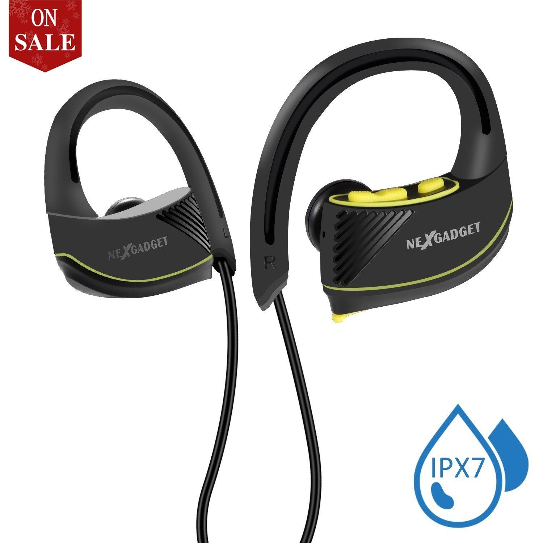 NEXGADGET Auriculares Inalámbrico Bluetooth 4.1, Deportes Auriculares Estéreo Plegables con Micrófono Headphones Wireless para iPhone, iPod, iPad ,Samsung ...