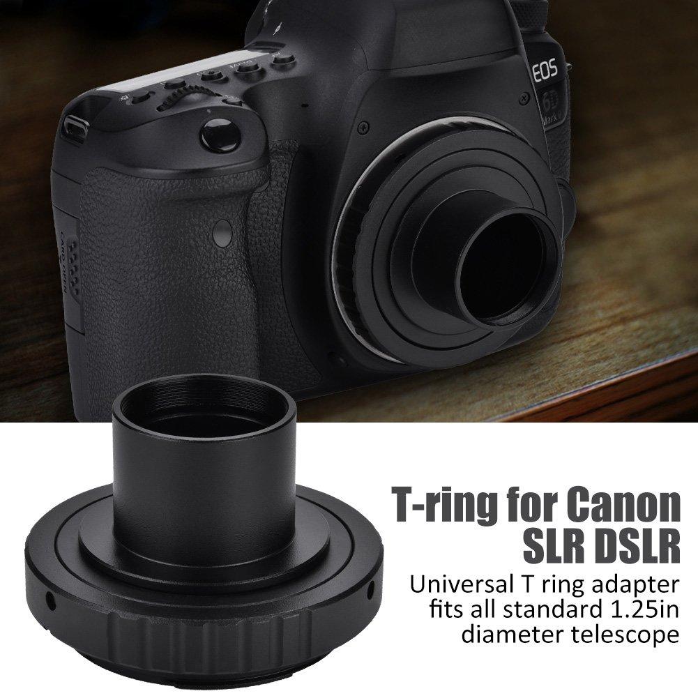 Elerose Adaptateur de Lunette Astronomique 1.25in T Ring SLR pour Canon