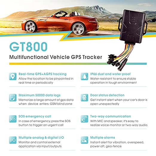 Concox Dust and Waterproof GPS Tracker Device for Vehicle/Motorcycle